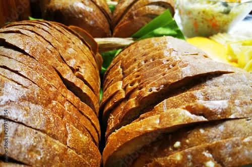 Spoed Foto op Canvas Brood sliced czech bread