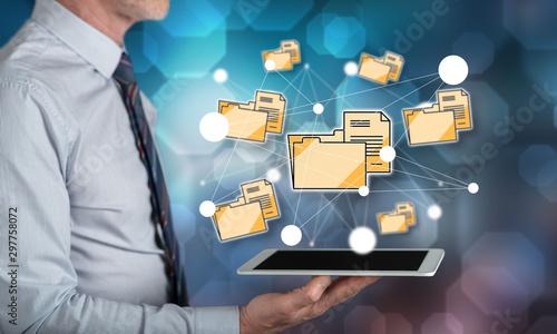 Fotografía  Concept of data connection