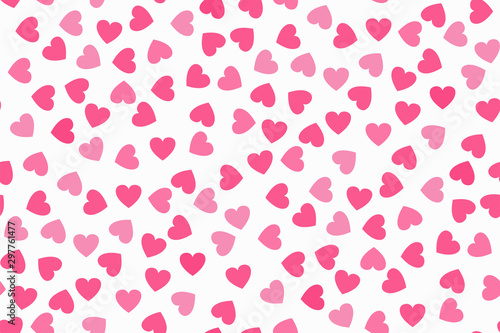 mata magnetyczna Abstract seamless pattern with pink hearts on white background. Universal print.