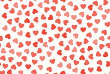 Red Hearts On White Background...