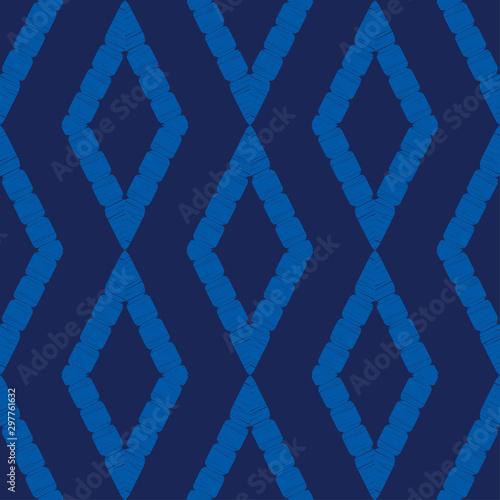 Foto auf AluDibond Boho-Stil Rhombuses. Ethnic boho seamless pattern. Lace. Embroidery on fabric. Patchwork texture. Weaving. Traditional ornament. Tribal pattern. Folk motif. Vector illustration for web design or print.
