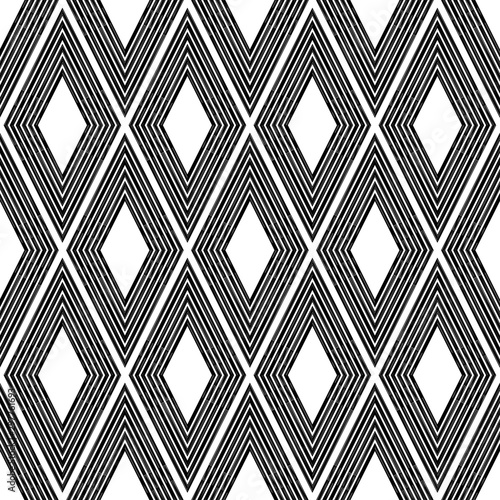Papiers peints Style Boho Rhombuses. Ethnic boho seamless pattern. Lace. Embroidery on fabric. Patchwork texture. Weaving. Traditional ornament. Tribal pattern. Folk motif. Vector illustration for web design or print.