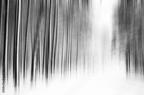 Fotobehang Donkergrijs Winter season abstract nature art print and Christmas landscape holiday background, snowy magical forest as luxury brand postcard design backdrop