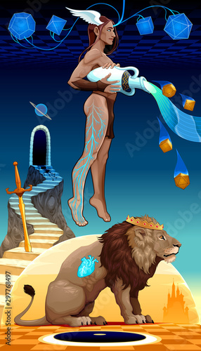 Binomial Leo Aquarius, two zodiacal opposites.