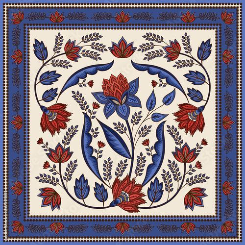 Fényképezés Indian floral paisley pattern vector