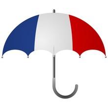 France Flag Umbrella