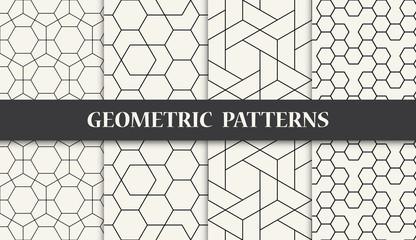 black and white geometric pattern set