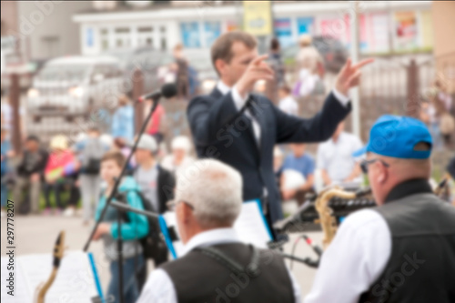 blure of Orchestra in the park - 297778207