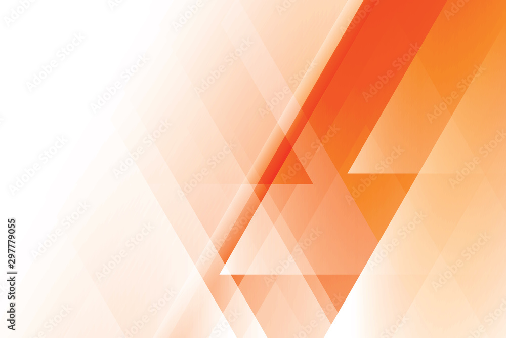 Fototapety, obrazy: Abstract geometric orange and white color background. Vector, illustration.