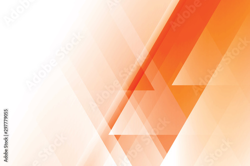 Abstract geometric orange and white color background. Vector, illustration.