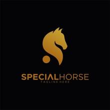 Letter S For Special Horse Logo Design Unique