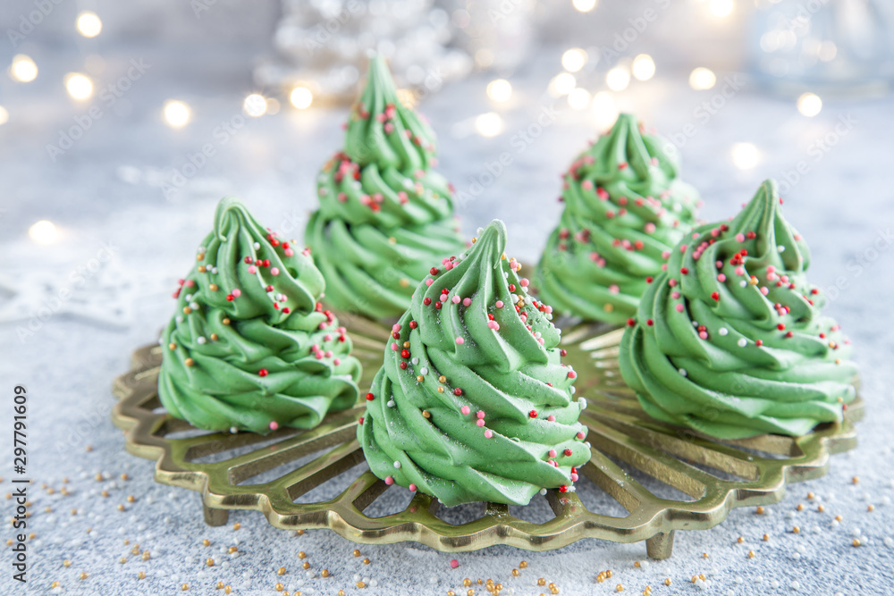 Fototapety, obrazy: Meringue Christmas trees
