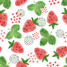 Seamless Strawberry Pattern. V...
