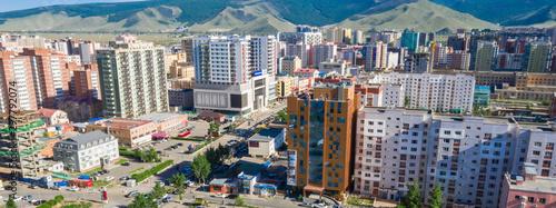 Foto Aerial view of Ulaanbaatar, the capital of Mongolia, circa June 2019