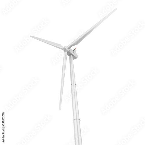 Fotografie, Obraz  Wind Turbine Isolated