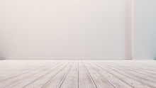 Empty Floor With White Walls A...