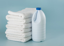Laundry Launderer Bleach Bottles And Terry Towel