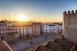 The Spanish city of Badajoz at sunset. The view from the castle.