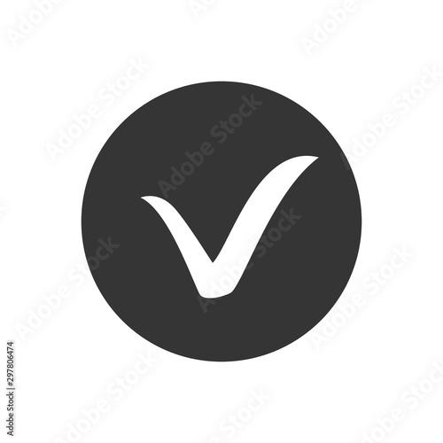 Fotomural  Check mark icon. Tick symbol, tick icon vector