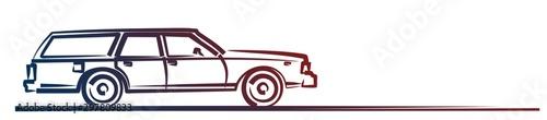 Obraz na plátně The Symbol of a big retro car.