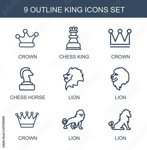 Obraz na plátně 9 king icons