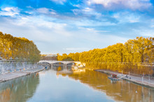 Rome City View With Tiber Rive...
