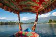 Leinwanddruck Bild - House boats on the dal lake in Srinagar (Kashmir, India)