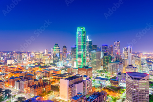 Dallas, Texas, USA Skyline at twilight Fototapet