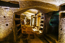 View From The Entrance To The Catacombs Of San Gennaro, Naples, Italy.