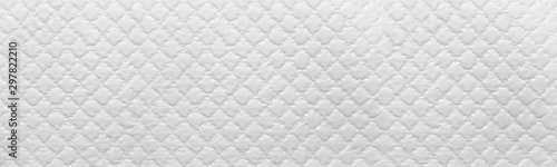 Obraz wide white texture of sofa background. White Leather Texture - fototapety do salonu