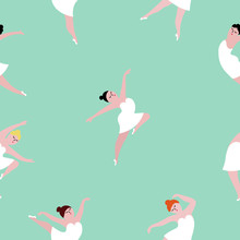 Seamless Pattern With Dancing ...