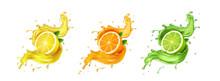 Juice Splash Lemon, Orange, Li...