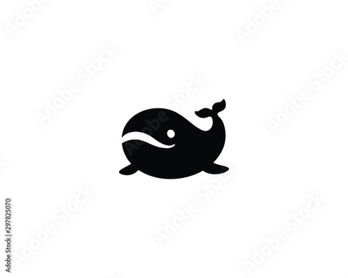 Fototapeta Whale vector isolated icon obraz