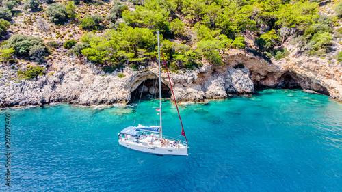 Mediterranean sailing in Turkey, Fethiye Fototapeta