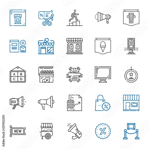 Fotografía  advertising icons set