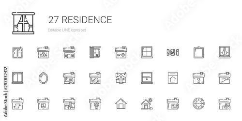 residence icons set Fotobehang