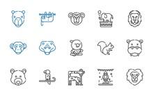 Zoo Icons Set