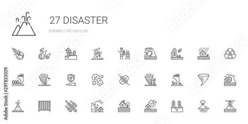 Fotografia disaster icons set