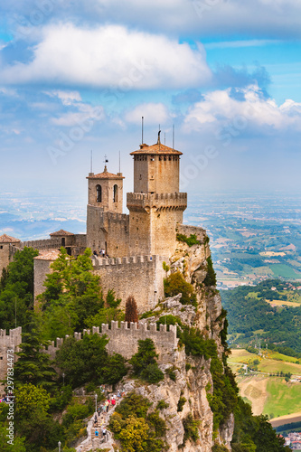 Rocca della Guaita, the most ancient fortress of San Marino, the oldest of the three towers of San Marino, San Marino Republic