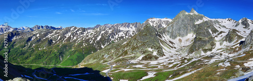 Fotomural  View from Great St Bernard Pass (2469m), Switzerland/Italy