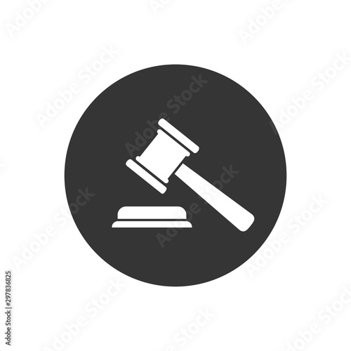 Judgement Justice icon in trendy flat style. Vector Canvas Print