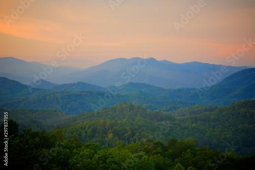 Cadres-photo bureau Bleu jean Smoky Mountains