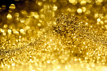 golden glitter bokeh lighti...