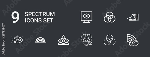 Fotografie, Tablou Editable 9 spectrum icons for web and mobile