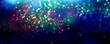 Leinwandbild Motiv glitter bokeh lighting effect Colorfull Blurred abstract background for birthday, anniversary, wedding, new year eve or Christmas