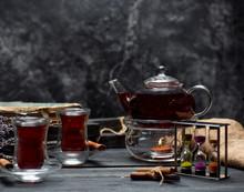 Black Tea With Cinnamon On The...