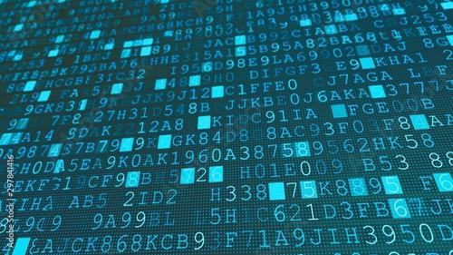 Fotomural  Digital machine code binary symbols background, flat internal computer number