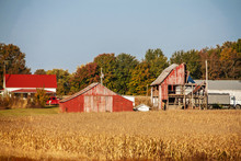 Farm And Outbuildings And Half...