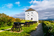View Of Kristiansten Fortress In Trondheim, Norway During A Cloudy Summer Day