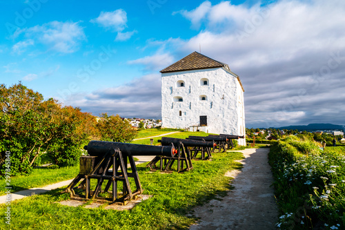 Tablou Canvas View of Kristiansten Fortress in Trondheim, Norway during a cloudy summer day